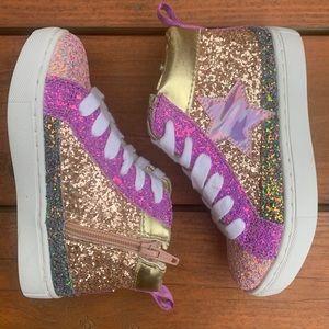 Glittery Kids Sneakers